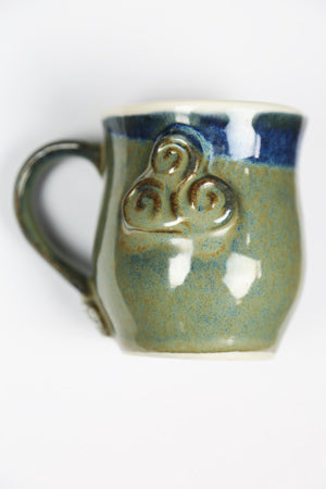 Blue Celtic Ceramic Mug by Busy Bee Ceramics