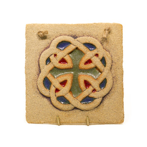 Hanging Celtic Knot Plaque by Michelle Butler Ceramics