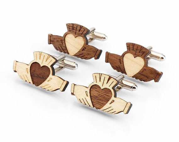 Claddagh Cufflinks by Monson Irish Jewelry