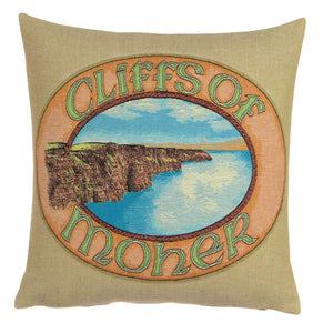 Cliffs of Moher Cushion Cover by Tooraloora
