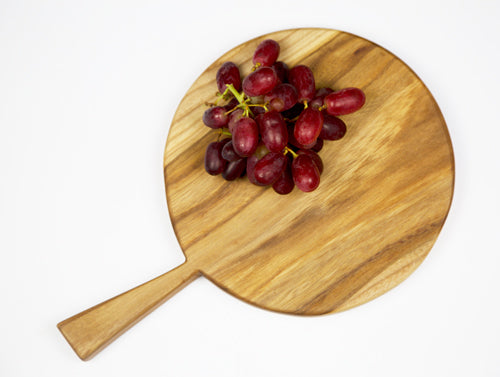 Elm Round Cheese Board by Dernacoo Crafts