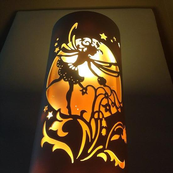 Handcrafted Flower Fairy Night Light (Color Changing Option) by Tique Lights