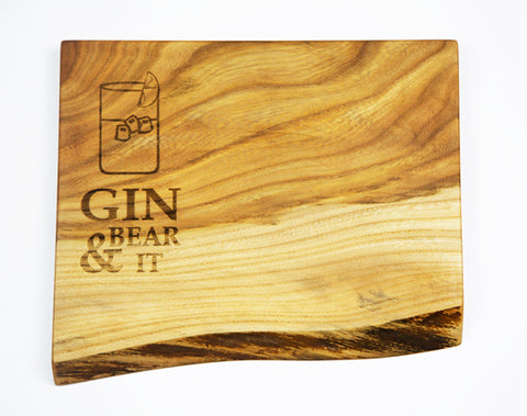 Gin & Bear It Elm Board by Dernacoo Crafts