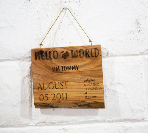 Hello World Sign by Dernacoo Crafts