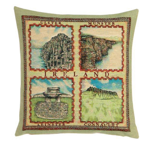 Ireland's 4 Provinces Cushion Cover by Tooraloora