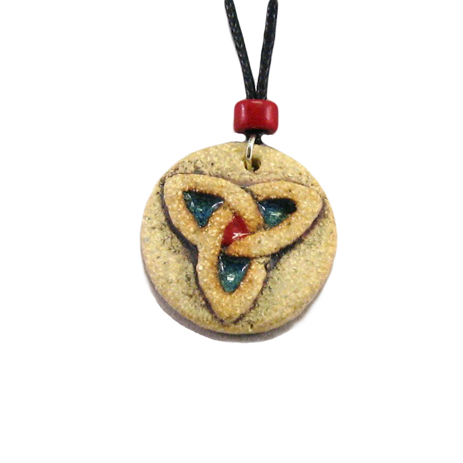 Trinity Celtic Knot Pendant by Michelle Butler Ceramics