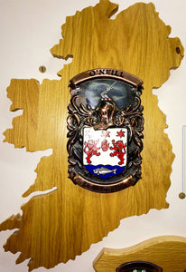 Large Ireland Copper on Native Oak Plaque by Heraldic Craft