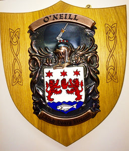 Large Single Copper on Native Oak Plaque by Heraldic Craft