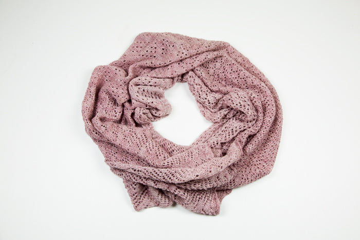Alpaca Lace Wrap in Antique Pink by Marian Morris