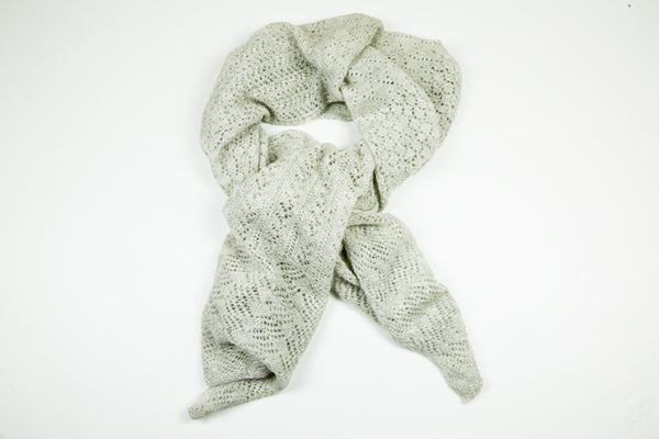 Alpaca Lace Wrap in Light Grey by Marian Morris