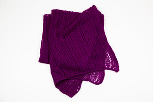 Alpaca Lace Wrap in Magenta Pink by Marian Morris