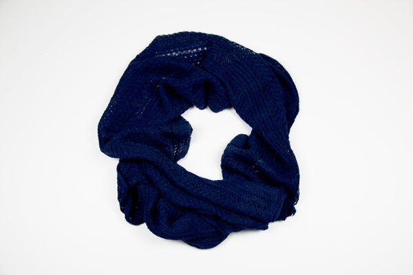 Alpaca Lace Wrap in Navy by Marian Morris