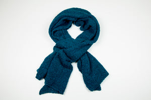 Alpaca Lace Scarf in Petrol Blue by Marian Morris