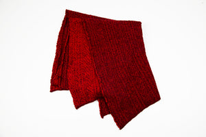 Alpaca / Merino Mix Lace Wrap in Red by Marian Morris