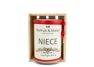 Niece Personalised Gift Candle by Enjoy Candles