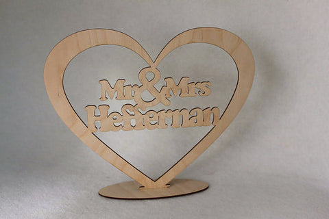 Personalised Mr & Mrs Freestanding Sign by FeelMyCraft