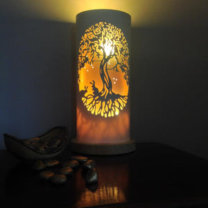 Handcrafted Bunny Tree Night Light by Tique Lights