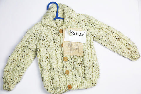 "Boys Cream Wool Cardigan - 20"" by Roberta Sturgeon"