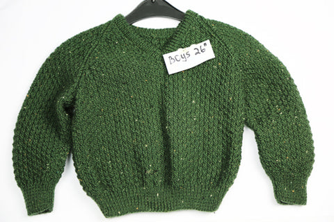 "Boys Green Wool Pullover - 26"" by Roberta Sturgeon"