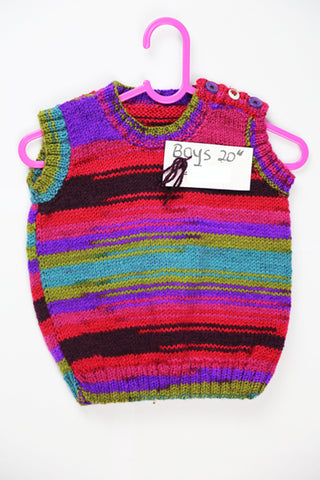 "Boys Multi-Colored Wool Cardigan - 20"" by Roberta Sturgeon"