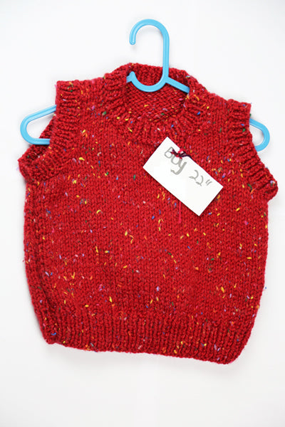 "Boys Red Wool Sleeveless Top - 22"" by Roberta Sturgeon"