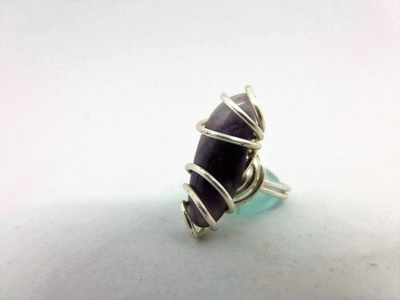 Celtic Silver Ring with Amethyst Gem by Crafty Irish Beggars