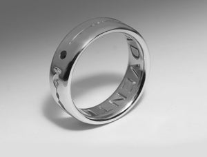 Personalised Ring with Soundwave & Lyrics by INNU Jewellery