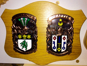 Standard Double Copper on Native Oak Plaque by Heraldic Craft