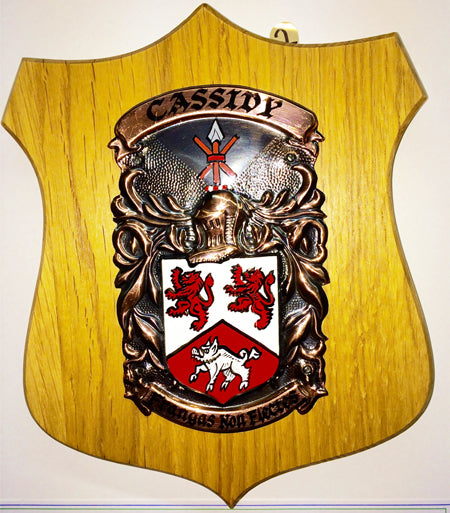 Standard Single Copper on Native Oak Plaque by Heraldic Craft