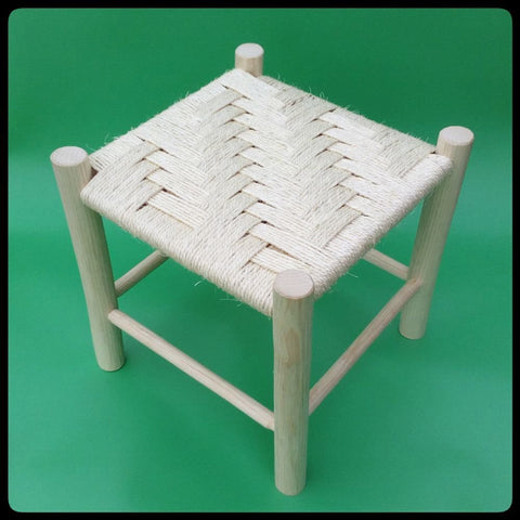Twill Handmade Wooden Stool