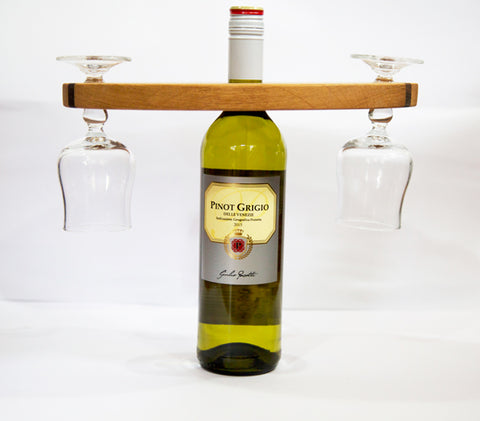 Wine Glass & Bottle Holder by Dernacoo Crafts