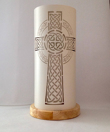 Handcrafted Celtic Cross Night Light by Tique Lights