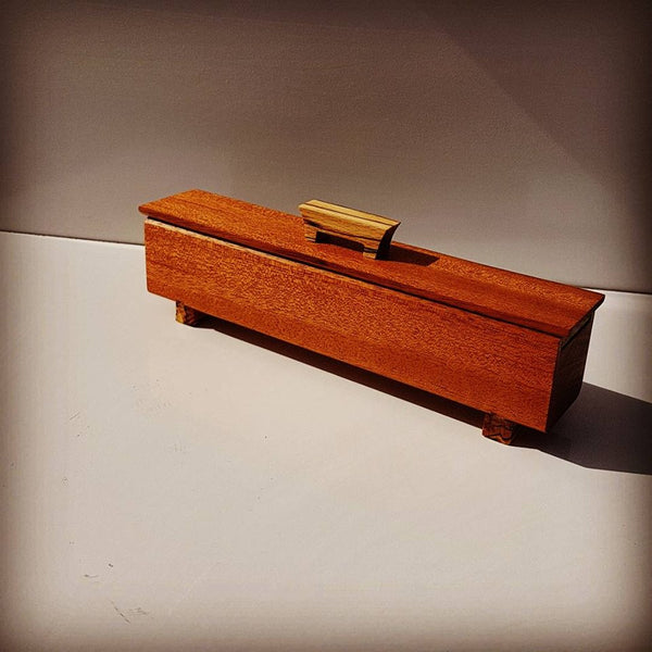 Teak Keepsake Box With Spalted Beech Accents by Damian Freeman Woodwork