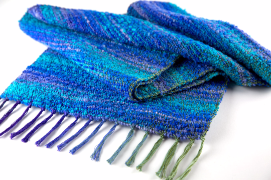 Monet Scarf – Waterlillies – Neptune by Liz Christy