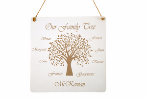 Personalised Family Tree Plaque by PD's Workshop