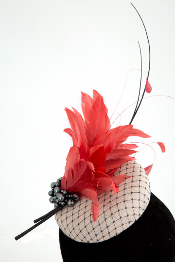 Leah - Wedding Hat Fascinator by Anita McKenna Designs