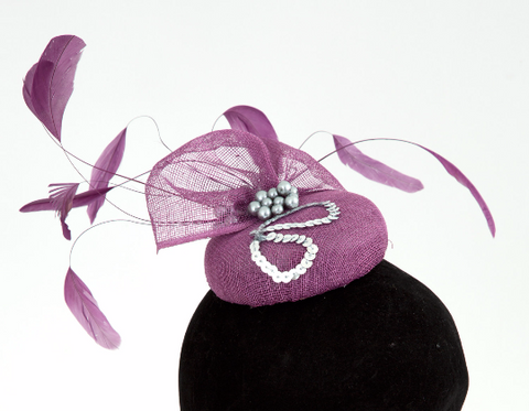 Sophie - Wedding Hat Fascinator by Anita McKenna Designs
