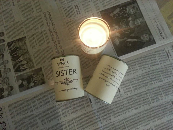 Sister Personalised Gift Candle by Enjoy Candles