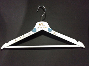 Personalized Wedding Hangers by Monson Irish Jewelry