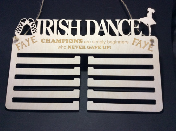 Dancing Medal Display by Monson Irish Jewelry