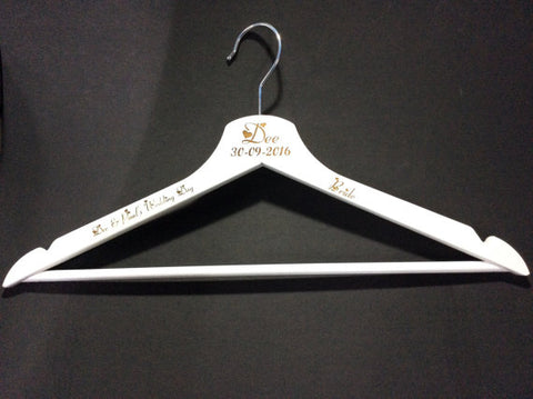 Wedding Dress Hanger by Monson Irish Jewelry