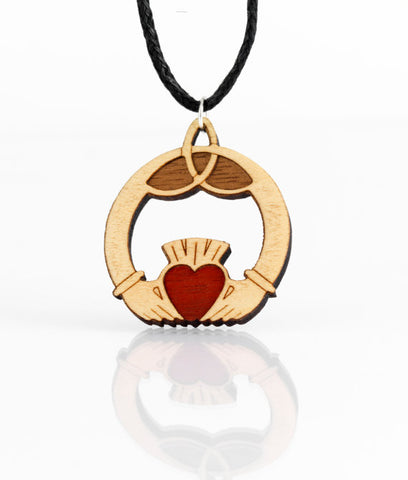Celtic Claddagh Necklace by Monson Irish Jewelry