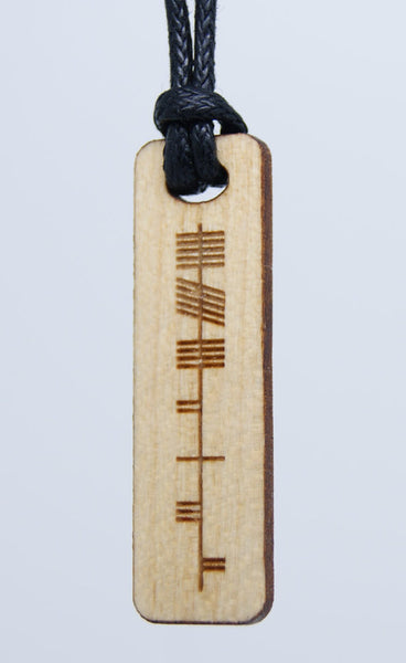 Ogham Pendant by Monson Irish Jewelry