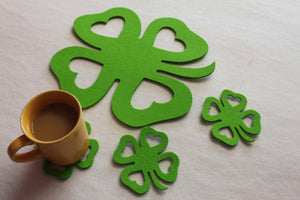 Shamrock Felt Placemats & Coasters by FeelMyCraft
