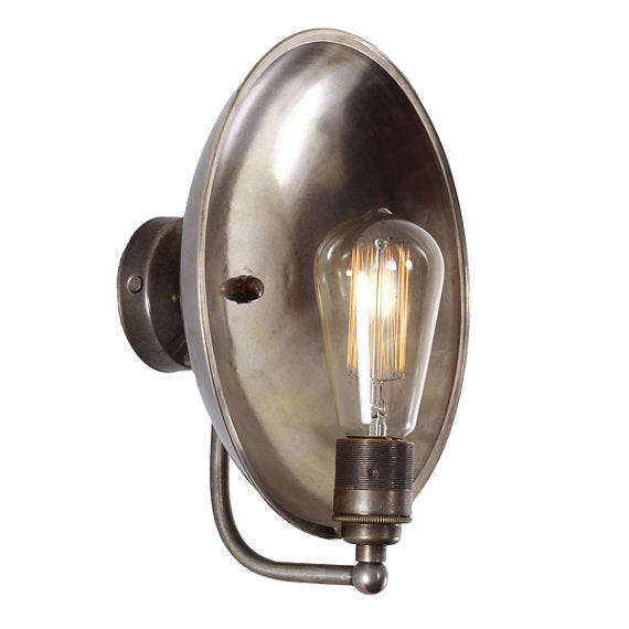 Curved Dish Wall Light Sconce by Mullan Lighting
