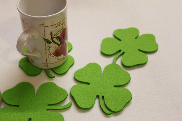 Felt Shamrock Coasters by FeelMyCraft