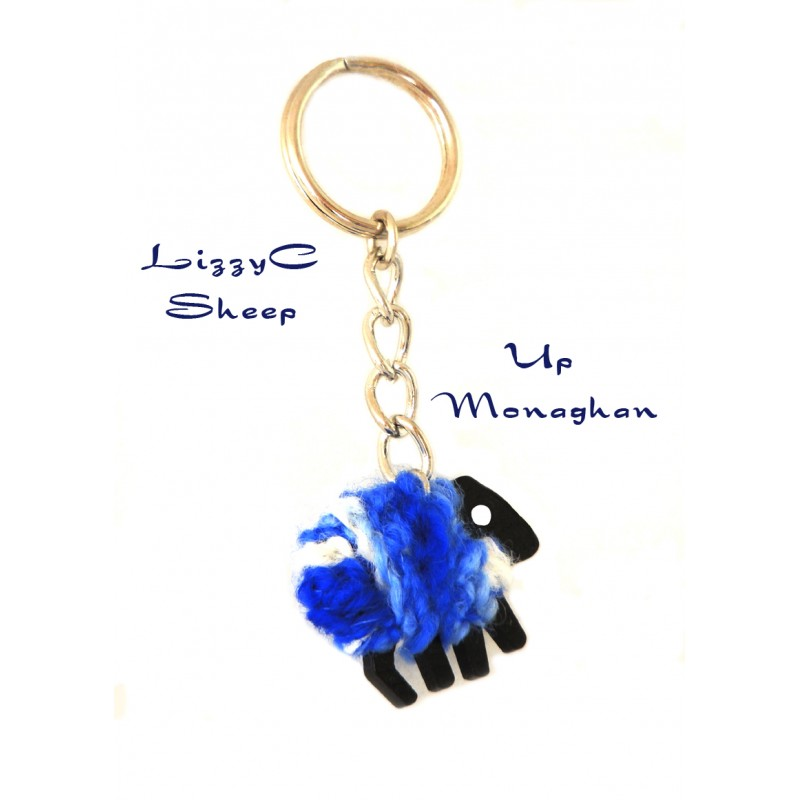 Monaghan Sheep Key Ring- LizzyCSheep by Liz Christy