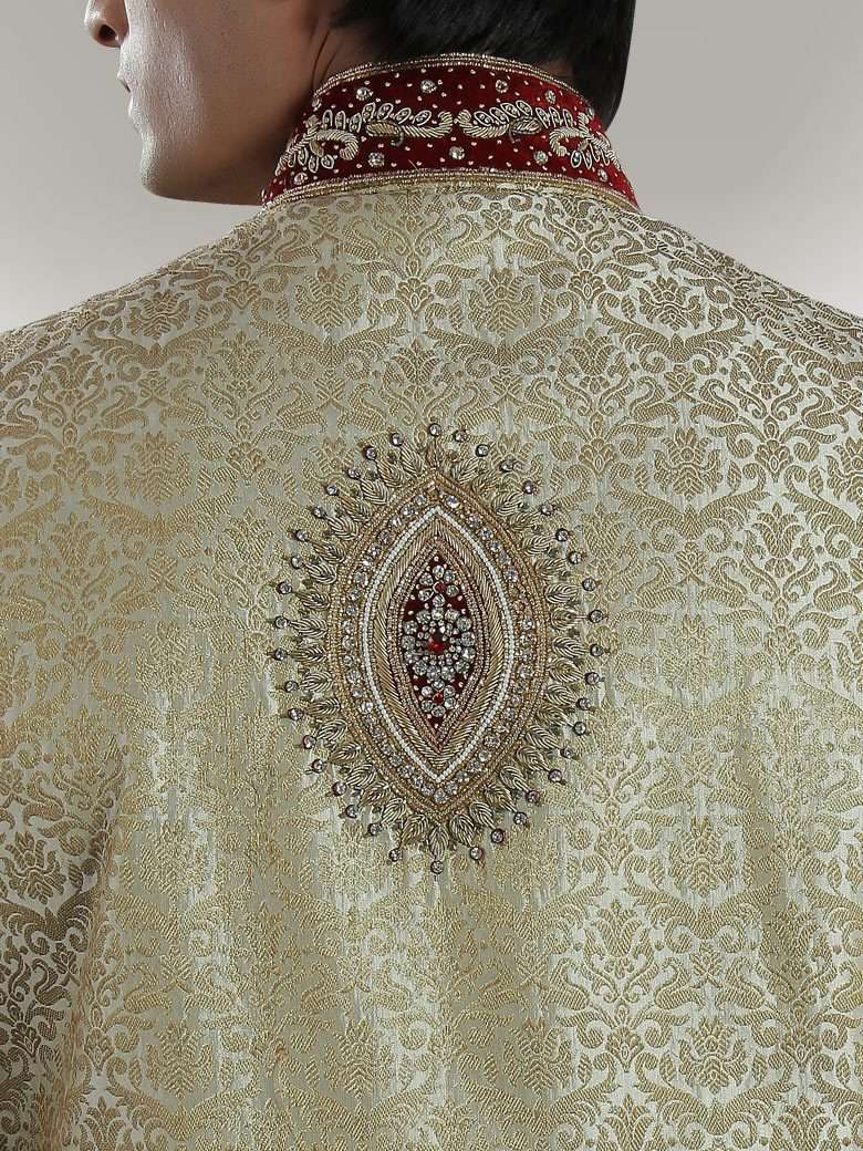 Umair Cream Sherwani