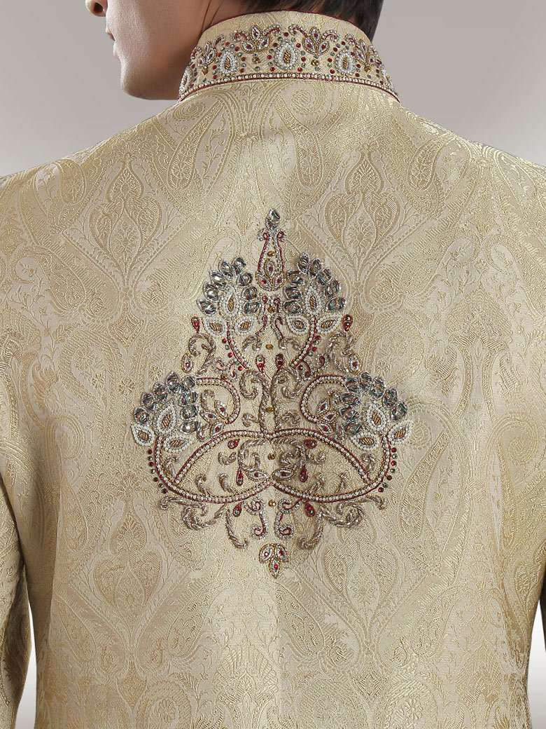 Magnificent Beige Danish Sherwani
