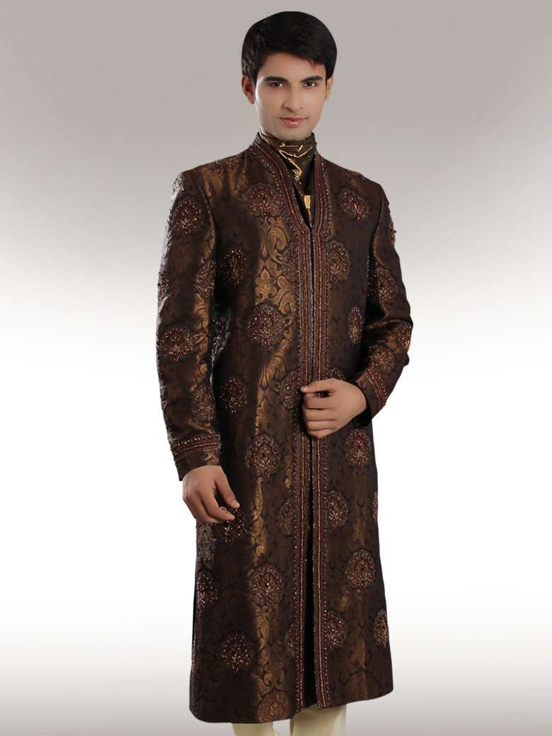 Jasmir Copper Brown Sherwani